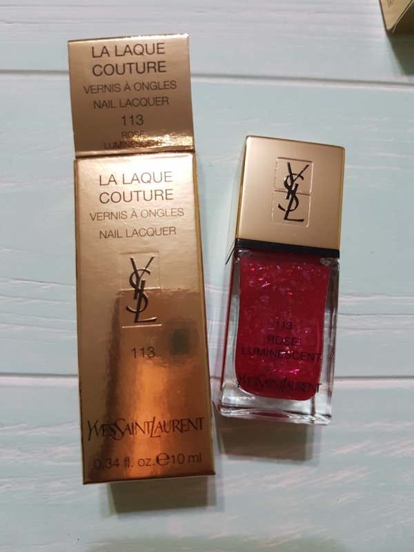 Лак для ногтей YSL La Laque Couture Spring 2019 Rose Luminescent 113